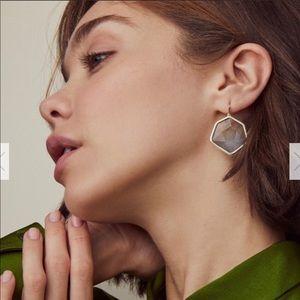 Kendra Scott Vanessa Gold Drop Earrings Gray Ombre